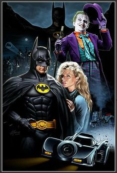 1989 Batman Movie Poster by Christopher Franchi