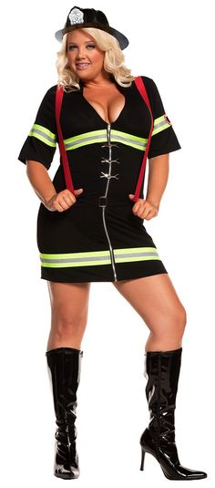 Ms. Blazin' Hot Fire Fighter Costume    Do you want to be the firefighter or the police person?  The boys would flip!!  lol