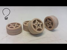 How to Cut Wooden Wheels with a Drill Press and Hole Saw - YouTube