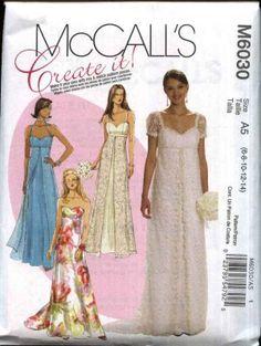 mccalls 6030 - wedding dress - like the split