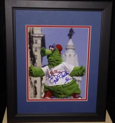 """Phillies Phanatic Philadelphia Phillies Autographed 8"""" x 10"""" Framed and Matted Photo"""