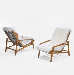 Anonymous; Teak Lounge Chairs, 1950s.