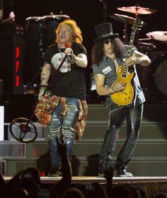 Axl Rose & Slash of guns N' Roses, July 2016 #axlrose #gnr…