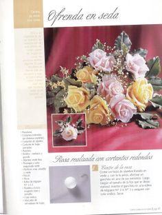 Todo Flores de Porcelana Fria: Rosas Paso a paso