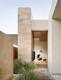 Modern Neutral Master Bedroom with Shiplap Douglas Fir Ceiling
