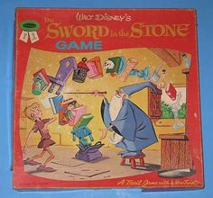 Vintage 1963 Disney The Sword in The Stone Board Game Complete Whitman RARE | eBay