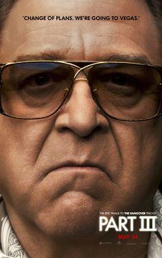 John Goodman wears Cazal sunglasses on the new Hangover III movie poster.