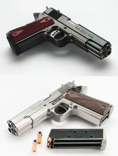 """AF2011-A1 Double Barrel Pistol, designed to """"commemorate the legendary Colt 1911-A1,"""" the .45 that turned 100 last year."""