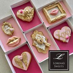 Lorena Rodriguez. Valentine's cookies. Love cookies . #lorenarodriguez  #love  #lovecookies  #valentinescookies  #kiss #lips #doorlock #angelcookies