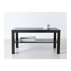 "LACK Coffee table - black-brown, 35 3/8x21 5/8 "" - IKEA Paint it in a funky color and add gold trimt o the legs"
