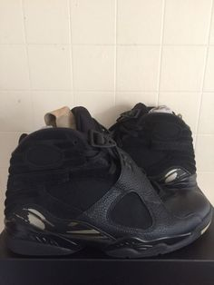 fc773918dacf Details about Nike Air Jordan 8 Retro Ovo Uk Size 9.5 US 10.5 black gold