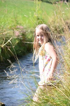 Greets from our vacation. My little daughter enjoys a cooling in a local creek in the area of #Ulm, #Germany    http://linkedinsiders.wordpress.com/