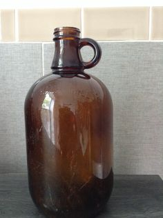 A personal favorite from my Etsy shop https://www.etsy.com/listing/280358108/anber-glass-half-pint-bottle-recovered