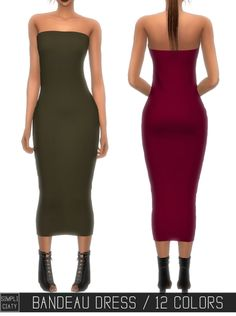 Sims 4 CC's - The Best: BANDEAU DRESS by Simpliciaty