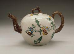 Teapot with Cover England, Staffordshire, circa 1755-1765 Furnishings; Serviceware Salt-glazed stoneware