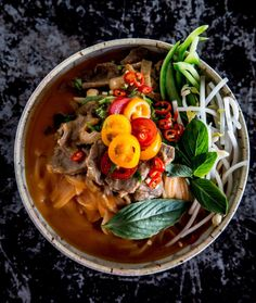 Beef Satay Soup With Noodles recipe by Adrian + Jeremy Asian Recipes, Beef Recipes, Soup Recipes, Recipies, Savoury Recipes, Thai Recipes, Delicious Recipes, Healthy Recipes, Beef Noodle Soup