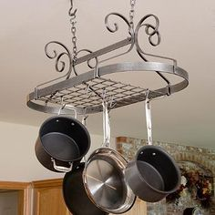 Enclume Scrolled Oval Hanging Cooking Rack