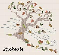 Stickeules Freebies -- windblown autumn tree