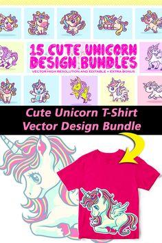 Kids Bed Design, T Shirt Design Template, Sticker Designs, Cute Unicorn, Coreldraw, Vector Design, Design Bundles, Pattern Design, Print Patterns