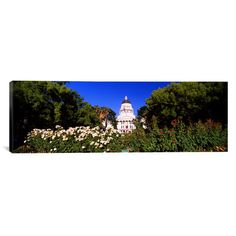 """East Urban Home Panoramic California State Capitol Building, Sacramento, California Photographic Print on Canvas Size: 12"""" H x 36"""" W x 0.75"""" D"""