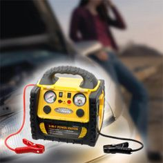 Jump Starter with Air Compressor 16800mAH High Capacity Multi-function Portable Power Bank - http://www.amazon.com/Compressor-Multi-function-flashlight-Smartphones-USB-charged/dp/B00X454EBY/