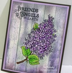 Tutorial Tuesday Masking Technique with Lilacs Blossom Clear Stamps | JustRite Papercraft Inspiration Blog