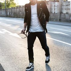 #suede motorcycle jacket and black jeans [ http://ift.tt/1f8LY65 ]