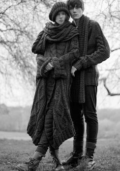woolandthegang:    Today's knit mood, wrapped up in cable knits.