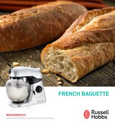 Baguettes are a French staple. Try our delicious baguettes recipe for a taste of what you could experience in Paris. Ingredients:  1 cup water, 2 1/2 cups bread flour, 1 tablespoon white sugar, 1 teaspoon salt, 1 1/2 teaspoons, 1 egg yolk 1 tablespoon water.