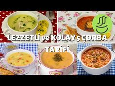 ÇORBA TARİFLERİ🥣 - Birbirinden Lezzetli ÇORBA ÇEŞİTLERİ🥄 - 5 KOLAY ÇORBA TARİFİ - YouTube Easy Soup Recipes, Dinner Recipes, Iftar, Cheeseburger Chowder, Food And Drink, Yummy Food, Pasta, Youtube, Turkish Cuisine