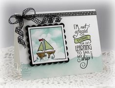 Card by Julee Tilman using Learning to Sail from Verve Stamps. #vervestamps