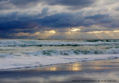 stormy day on the emerald coast, florida, usa.