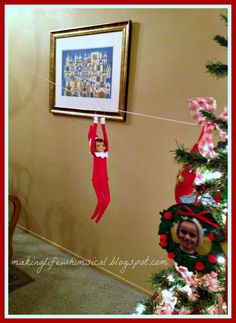 Making Life Whimsical: We Believe in Christmas Magic! - #Elf on a Shelf idea _ #Christmas #Holiday #Elf on a Shelf