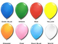 """Qualatex 16"""" Standard Colours (50/pkg) 8 colour options Dark Blue Green, Blue And White, Qualatex Balloons, Easter Eggs, Colours, Orange, Pink, Pink Hair, Roses"""