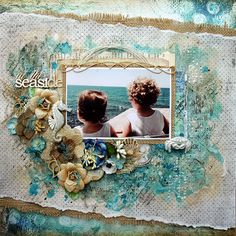 Valia's crafty world: At the seaside - LO for Lindy's Stamp Gang