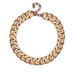 Women's Statement Necklace Daily Simple Alloy Golden A heavy statement necklace crafted from a high-shine curb chain with a lobster clasp.