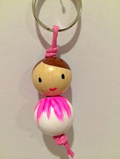 Key chain Pink cutie by Littlegreenkoala on Etsy