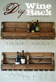 diy wine rack (reclaimed wood, if possible). Can nail to bump out over breakfast bar & put wine glasses hanging underneath.