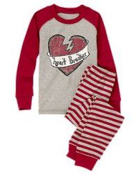 boys heartbreaker pjjpg - Valentines Day Pajamas