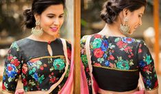 Latest patch work blouse designs 2019 - New Blouse Designs Patch Work Blouse Designs, Blouse Back Neck Designs, New Blouse Designs, Princess Cut Blouse Design, Net Blouses, Blouse Models, Net Saree, Party Wear, Floral