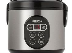 Aroma 8 cup cooked digital rice cooker and food steamer stainless steelwhat a perfect rice cooker steamer, i own this rice cooker given to me by my sister as a gift and i think it is the best. So therefore this would be a great wedding gift. Best Rice Cooker, Aroma Rice Cooker, Rice Cooker Steamer, Slow Cooker, Steamed Meat, Risotto, Steamer Recipes, One Pot Dishes, Rice Grain