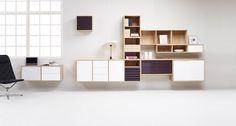 Billedresultat for ophængte skabe Office Desk, Shelving, Furniture, Home Decor, Shelves, Desk Office, Decoration Home, Desk, Room Decor