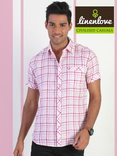 #Linenlove's #shirt gives you a sharp and are versatile look!  Buy now: http://bit.ly/1iAoLdf