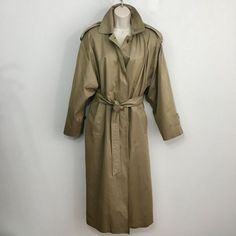 8b489a6fd49 Vintage Christian Dior Trench Coat Jacket Belted Wool Lining Womens Size 8