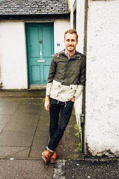 June 13, 2014. Exploring Scotland a bit. Jacket: Topman - $20 (extreme sale)Shirt:Rhodes Collar Oxford-Bonobos(c/o)Jeans:Levi's 511in Rigid Dragon- Nordstrom - $50Boots: Dune - Topman - $120 (similar)Watch:Stillwell in Chocolate- Jack Spade (c/o)