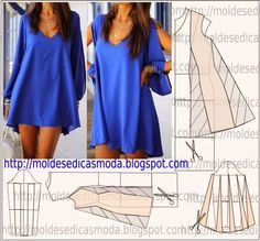 Diy idea how to make tutorial sew short dress Diy Clothing, Sewing Clothes, Dress Sewing Patterns, Clothing Patterns, Diy Fashion, Ideias Fashion, Fashion Design, Vetements Clothing, Couture Sewing