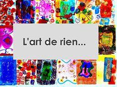 L'art de rien : une mine d'idée pour l'art visuel Painting For Kids, Art For Kids, Blog Art, Art Mat, Classroom Art Projects, Ecole Art, Plastic Art, Collaborative Art, Land Art