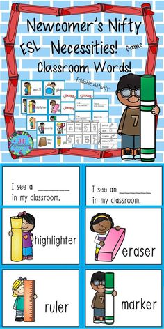 This packet is to help our new ELL's transition into our classrooms.  It would be great for kindergarten and first grade students when they come Back to School!  It is a classroom/school theme set of vocabulary words that can be used in many ways:Games, Pocket Chart, and Anchor Chart.