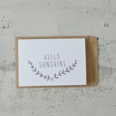 Hello sunshine - Mini card via Hello Paper