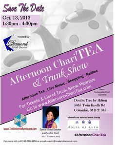 Afternoon ChariTEA & Trunk Show benefiting Domestic Violence Awareness - Columbia, MD - Oct 13, 2013 #AfternoonChariTEA